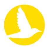 Icono de pájaro amarillo Iora