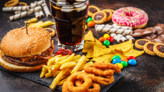 Fast food and other high trans-fat foods