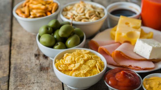 High salt foods like olives, deli meat, chips etc