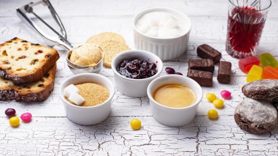 High sugar foods like white bread, ice cream, jam, juice etc
