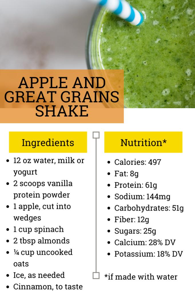 Apple & Great Grains Shake Recipe Card