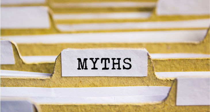 Coronavirus myths - file folders