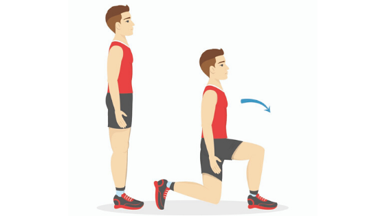 A vector image of a man demonstrating a tricep extension