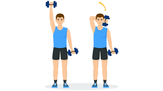 A vector image of a woman demonstrating lateral raises