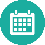 Teal appointment calendar icon