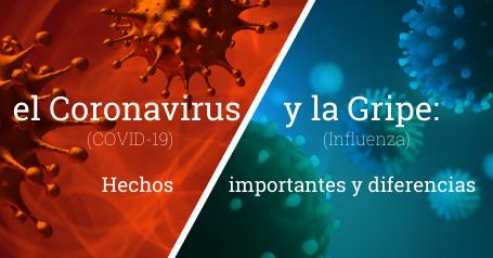 el Coronavirus y la Gripe: hechos importantes y diferencias