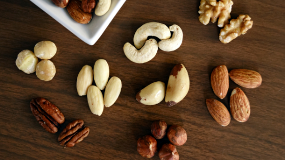Whole raw nuts