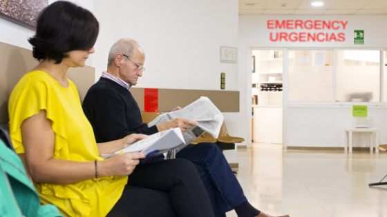 seniors are seen in an Emergency Room waiting area